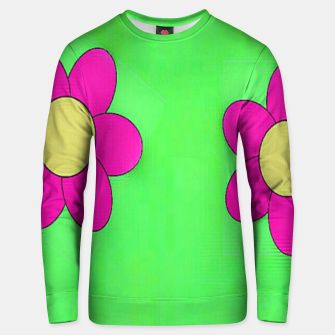 Thumbnail image of Pink flowers on green Unisex sweater, Live Heroes