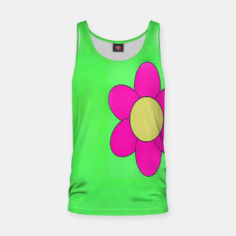 Thumbnail image of Pink flowers on green Tank Top, Live Heroes