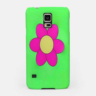 Miniatur Pink flowers on green Samsung Case, Live Heroes