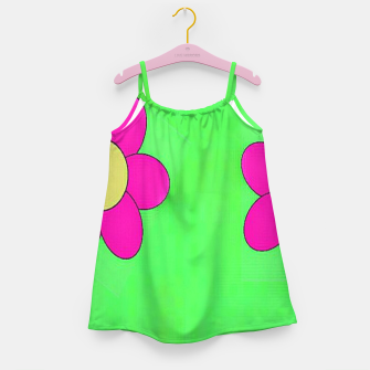 Thumbnail image of Pink flowers on green Girl's dress, Live Heroes