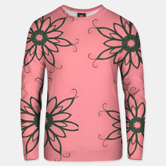 Thumbnail image of Floral sketch on pink Unisex sweater, Live Heroes