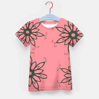 Thumbnail image of Floral sketch on pink Kid's t-shirt, Live Heroes