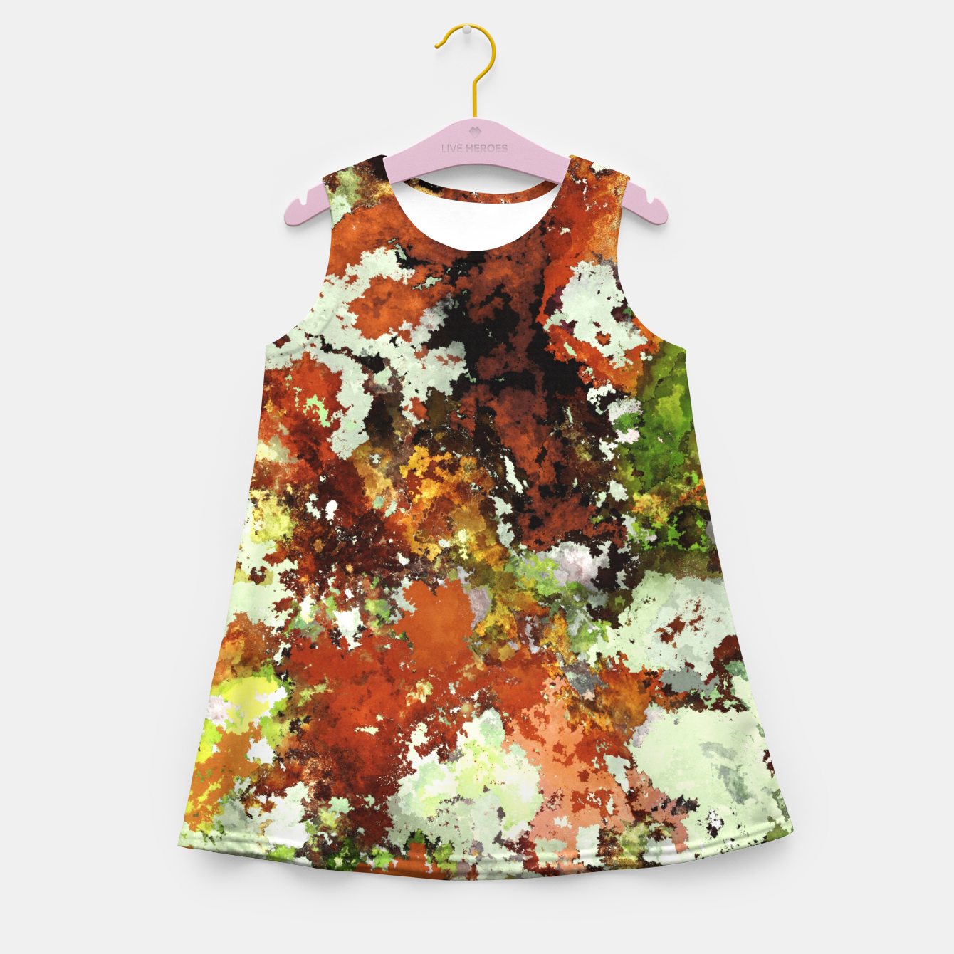 Image of Abandoned wall Girl's summer dress - Live Heroes