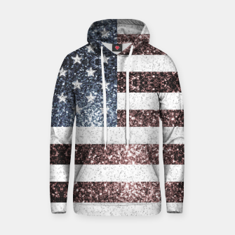 Thumbnail image of Rustic Red White Blue Sparkles USA flag Hoodie, Live Heroes