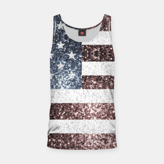 Thumbnail image of Rustic Red White Blue Sparkles USA flag Tank Top, Live Heroes