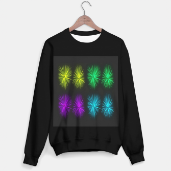 Thumbnail image of Colorful fireworks on black Sweater regular, Live Heroes