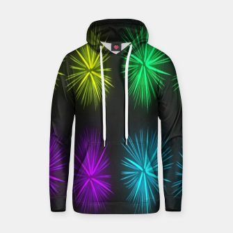 Thumbnail image of Colorful fireworks on black Hoodie, Live Heroes