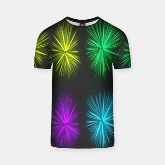 Thumbnail image of Colorful fireworks on black T-shirt, Live Heroes