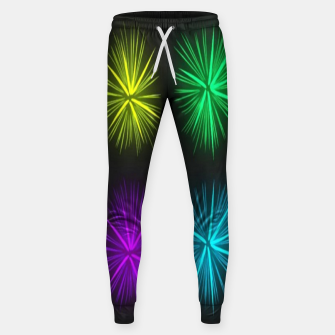 Thumbnail image of Colorful fireworks on black Sweatpants, Live Heroes