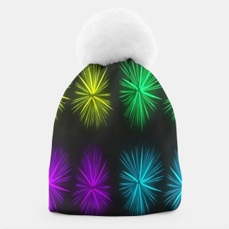 Thumbnail image of Colorful fireworks on black Beanie, Live Heroes