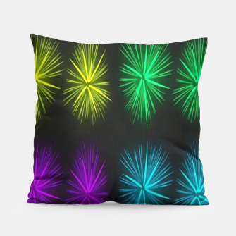 Thumbnail image of Colorful fireworks on black Pillow, Live Heroes