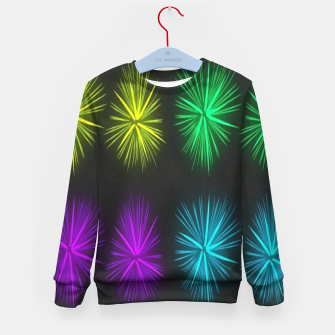 Thumbnail image of Colorful fireworks on black Kid's sweater, Live Heroes