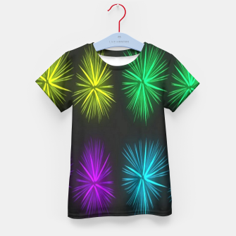 Thumbnail image of Colorful fireworks on black Kid's t-shirt, Live Heroes