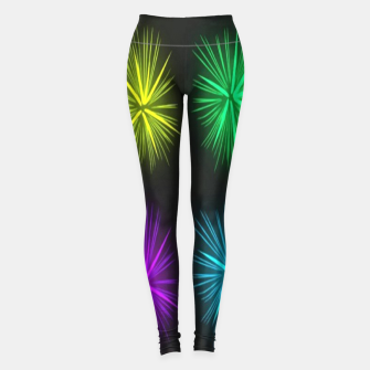 Thumbnail image of Colorful fireworks on black Leggings, Live Heroes
