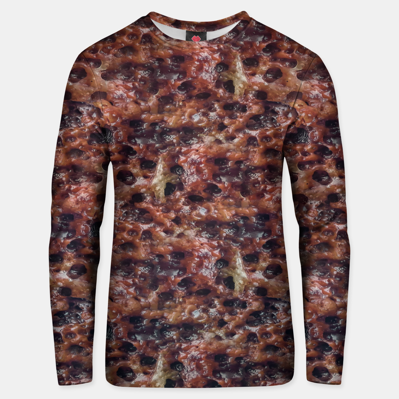 Image of Warm Abstract Surface Print Unisex sweater - Live Heroes