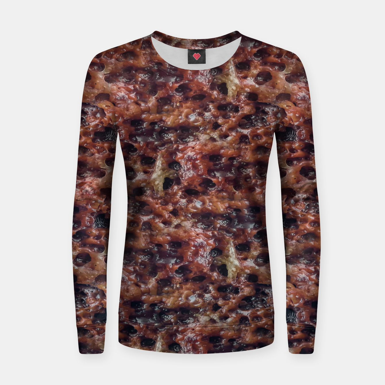 Image of Warm Abstract Surface Print Women sweater - Live Heroes