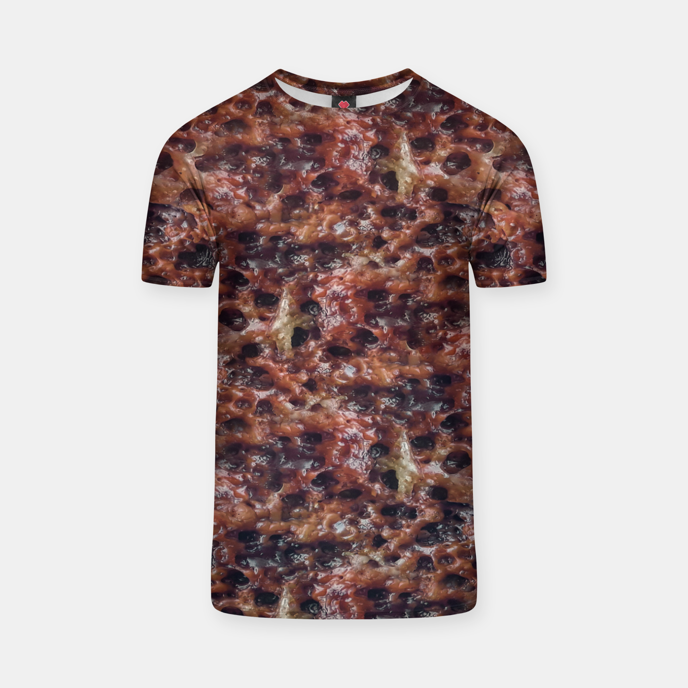 Image of Warm Abstract Surface Print T-shirt - Live Heroes