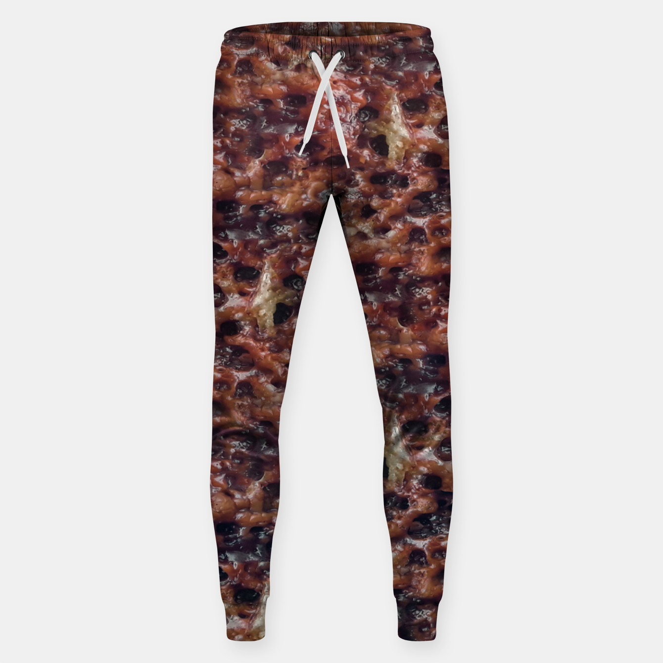 Image of Warm Abstract Surface Print Sweatpants - Live Heroes