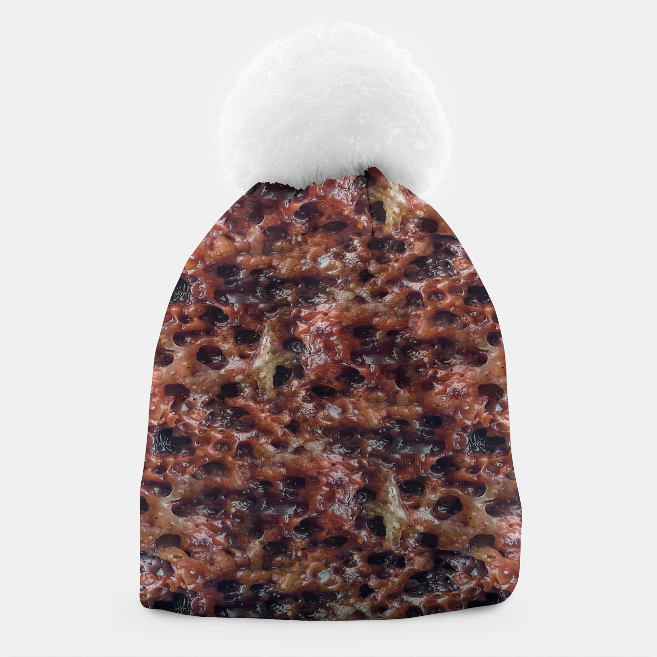 Image of Warm Abstract Surface Print Beanie - Live Heroes