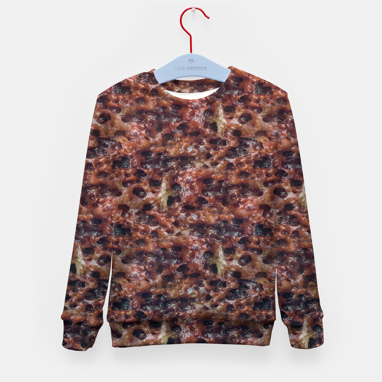 Image of Warm Abstract Surface Print Kid's sweater - Live Heroes