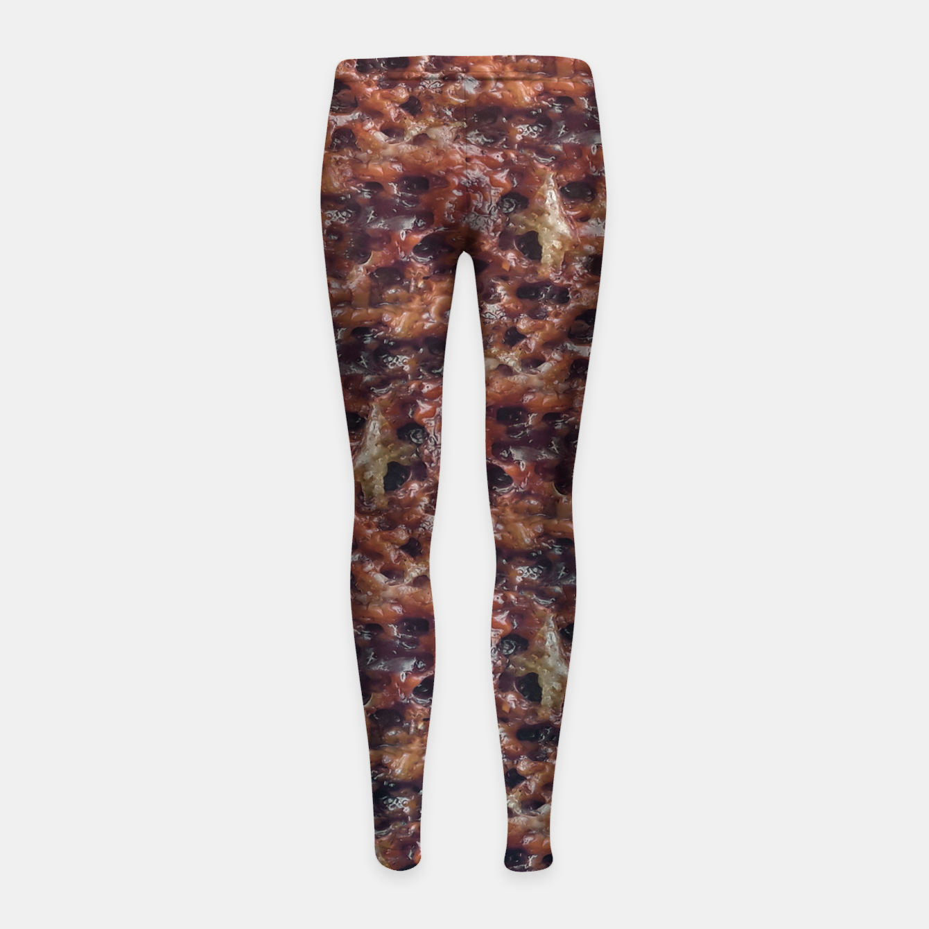 Image of Warm Abstract Surface Print Girl's leggings - Live Heroes
