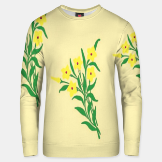 Thumbnail image of Yellow flowers Unisex sweater, Live Heroes