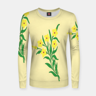 Thumbnail image of Yellow flowers Women sweater, Live Heroes