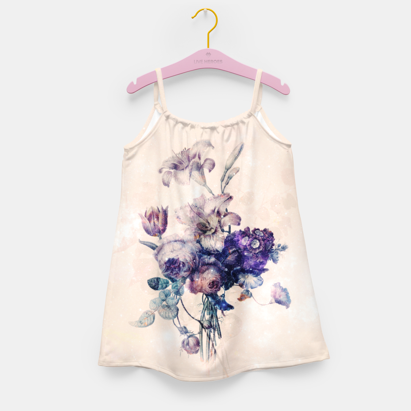 Image of Floral Challenges Girl's dress - Live Heroes
