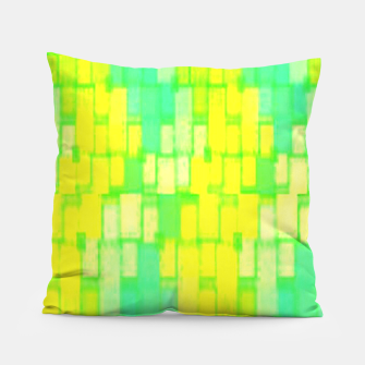 Thumbnail image of Yellow and green blocks Pillow, Live Heroes