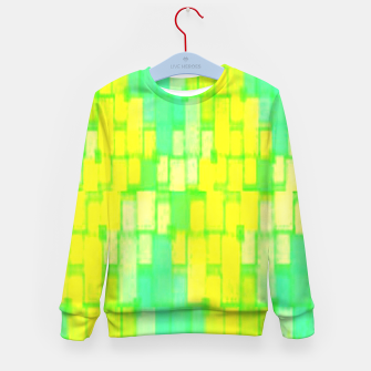 Thumbnail image of Yellow and green blocks Kid's sweater, Live Heroes