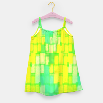 Thumbnail image of Yellow and green blocks Girl's dress, Live Heroes