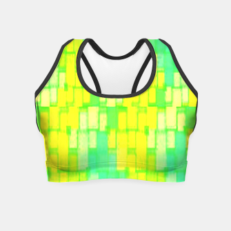Thumbnail image of Yellow and green blocks Crop Top, Live Heroes