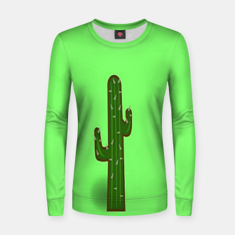 Thumbnail image of Green cactus Women sweater, Live Heroes