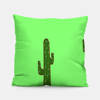 Thumbnail image of Green cactus Pillow, Live Heroes
