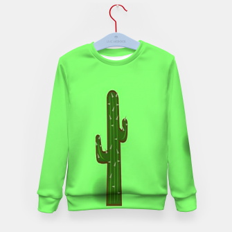 Thumbnail image of Green cactus Kid's sweater, Live Heroes