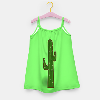 Thumbnail image of Green cactus Girl's dress, Live Heroes