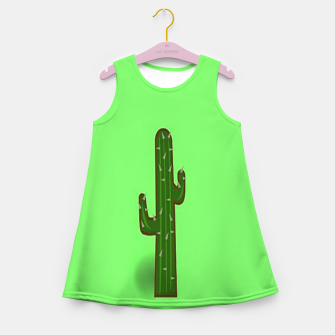 Thumbnail image of Green cactus Girl's summer dress, Live Heroes