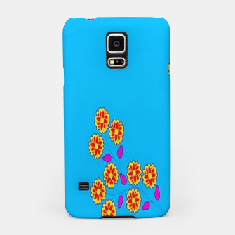 Thumbnail image of Abstract flowers on blue Samsung Case, Live Heroes