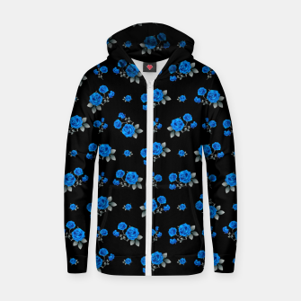 Miniatur Blue Roses with monochromatic leaves Zip up hoodie, Live Heroes