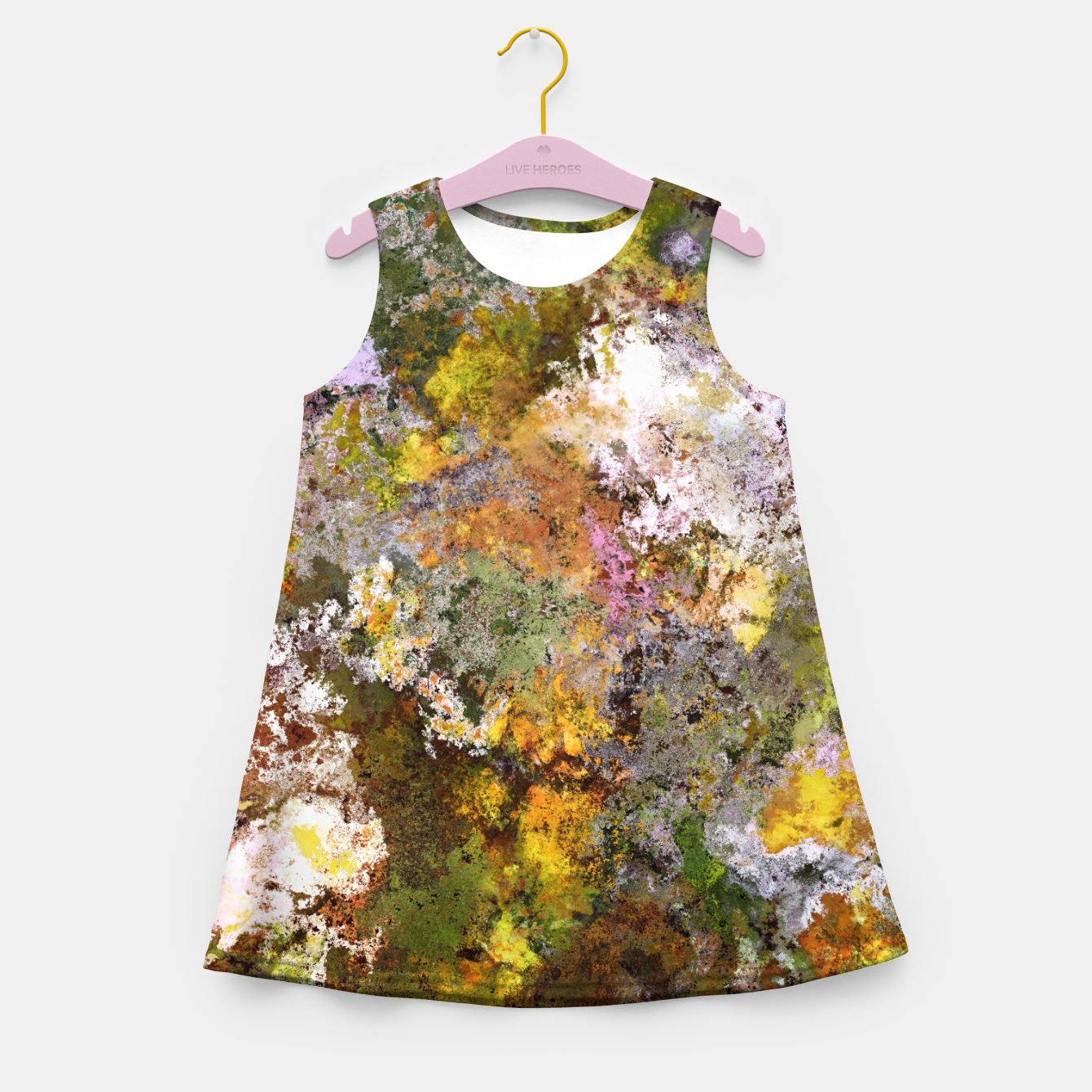 Image of Boulders grit and stone Girl's summer dress - Live Heroes