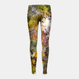 Thumbnail image of Boulders grit and stone Girl's leggings, Live Heroes