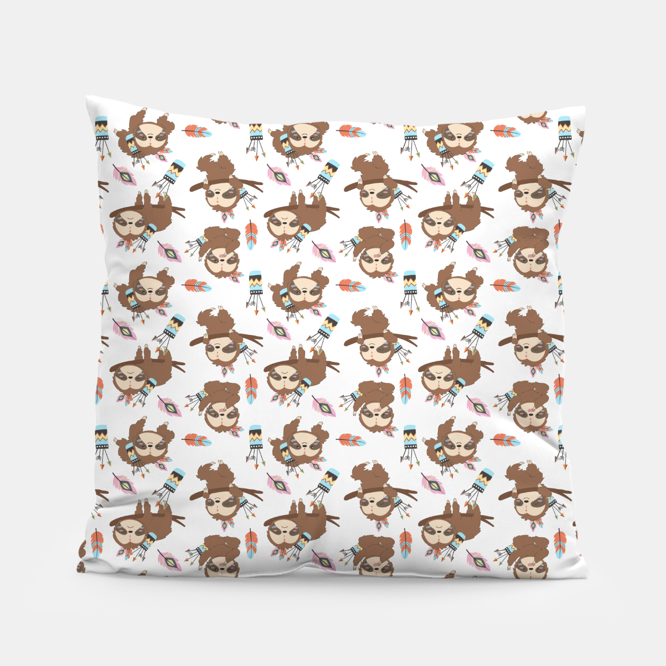 Image of sloth Pillow - Live Heroes