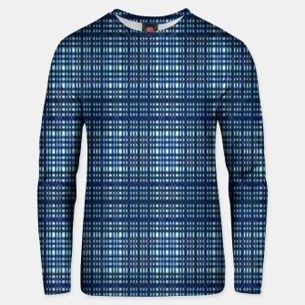 Thumbnail image of Blue plaid Unisex sweater, Live Heroes