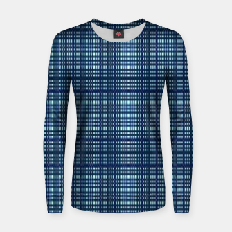 Thumbnail image of Blue plaid Women sweater, Live Heroes