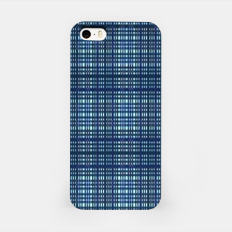 Thumbnail image of Blue plaid iPhone Case, Live Heroes