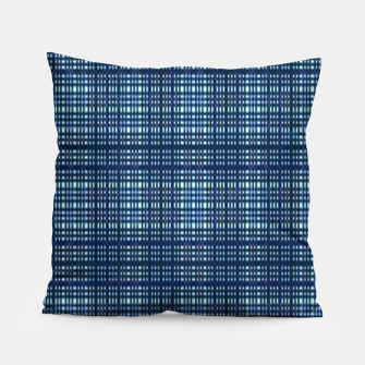 Thumbnail image of Blue plaid Pillow, Live Heroes