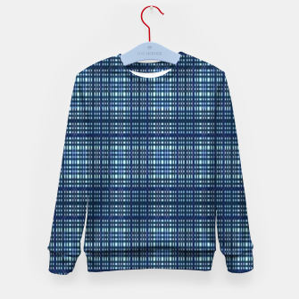 Thumbnail image of Blue plaid Kid's sweater, Live Heroes