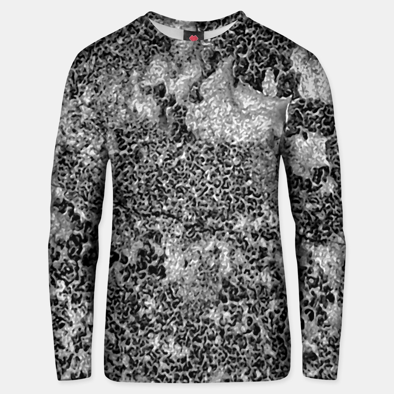 Image of Grey and White Grunge Camouflage Print Unisex sweater - Live Heroes
