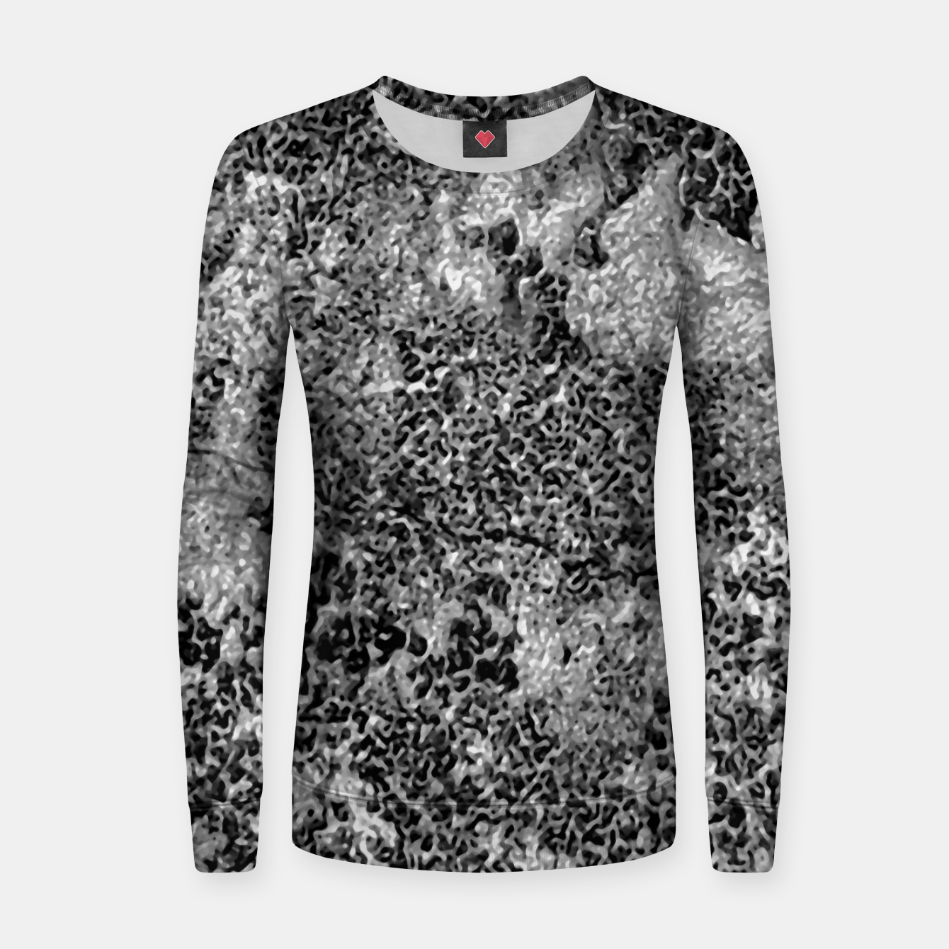 Image of Grey and White Grunge Camouflage Print Women sweater - Live Heroes