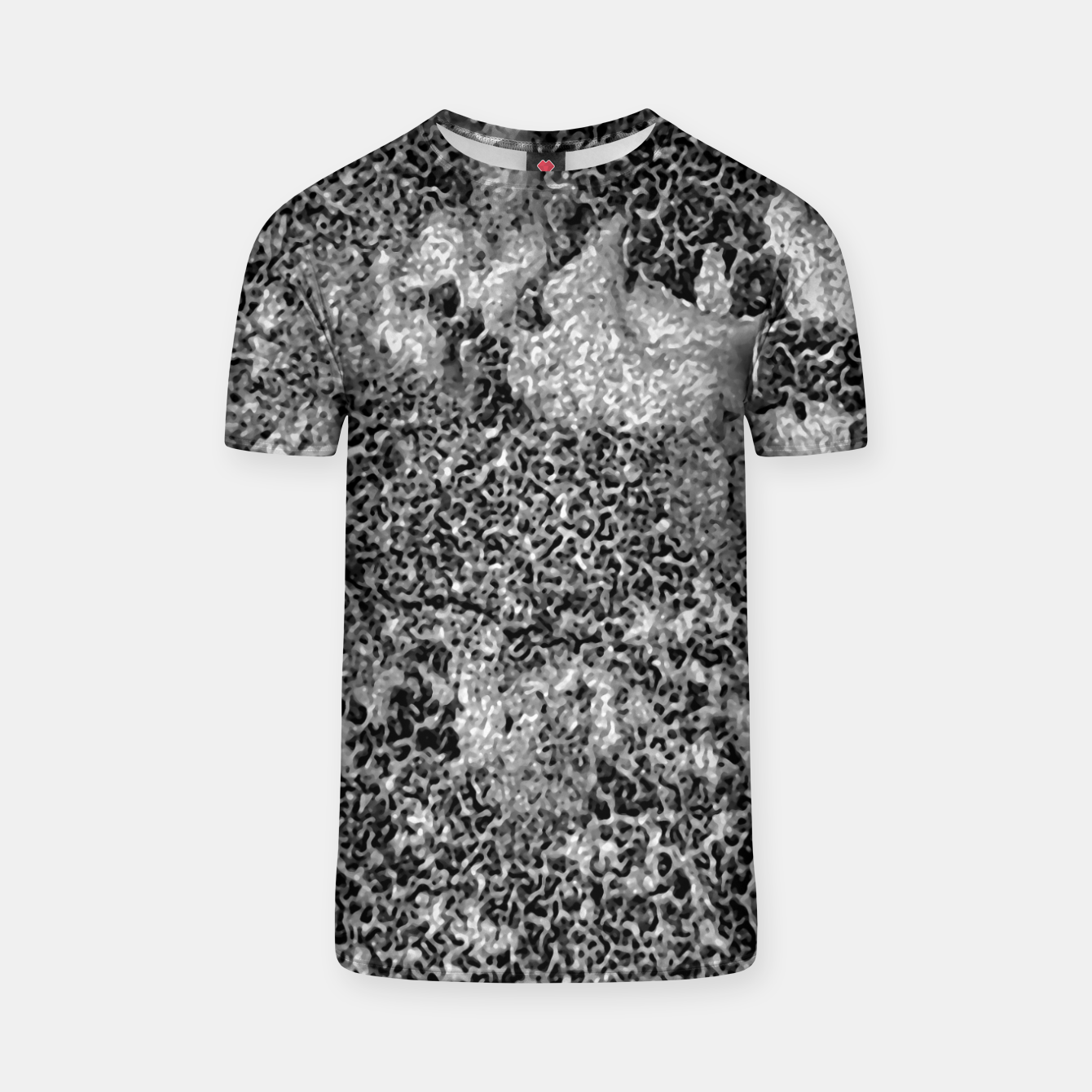 Image of Grey and White Grunge Camouflage Print T-shirt - Live Heroes